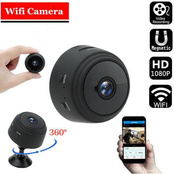 A9 kamera Mini 1080P aparat Ip HD wersja nocna głos rejestrator bezprzewodowy Mini kamery wideo kamera monitorująca kamera Wifi tanie i dobre opinie TTVXO CN (pochodzenie) 1080 p (full hd) Brak Karta SD