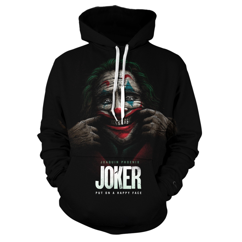 New Fashion 3D Printing Men's Cool Spring And Autumn Clown Character Color Personality Design Men's Hoodie Simple Style Leisure