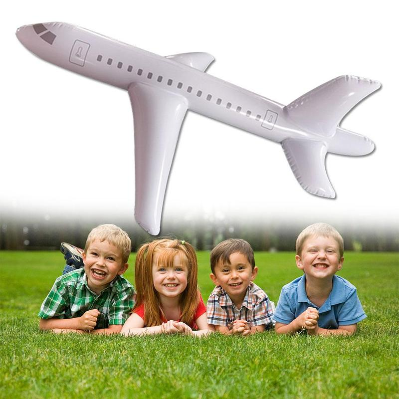 2m Inflatable Airplane Toy with Pump Cartoon Inflatable Plane Model Display Toy PVC Inflatable Airplane Model Party Decoration image