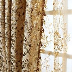 Tanie ceny w stylu europejskim zasłony do sypialni luksusowe zasłony do salonu