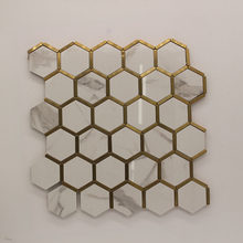 Wall Sticker Ceramic And Mental Mosaic Hexagon Honeycomb Wall Tiles Decoration