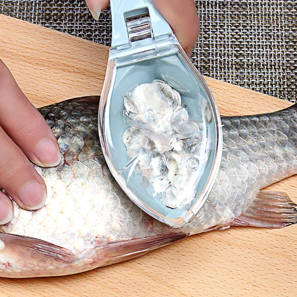 Рыбья чешуя жидкость для снятия Кухня инструменты рыбьей чешуи скребок щетка Ножи очистки Овощечистка, рыбочистка скребок посылка Кухня ак...