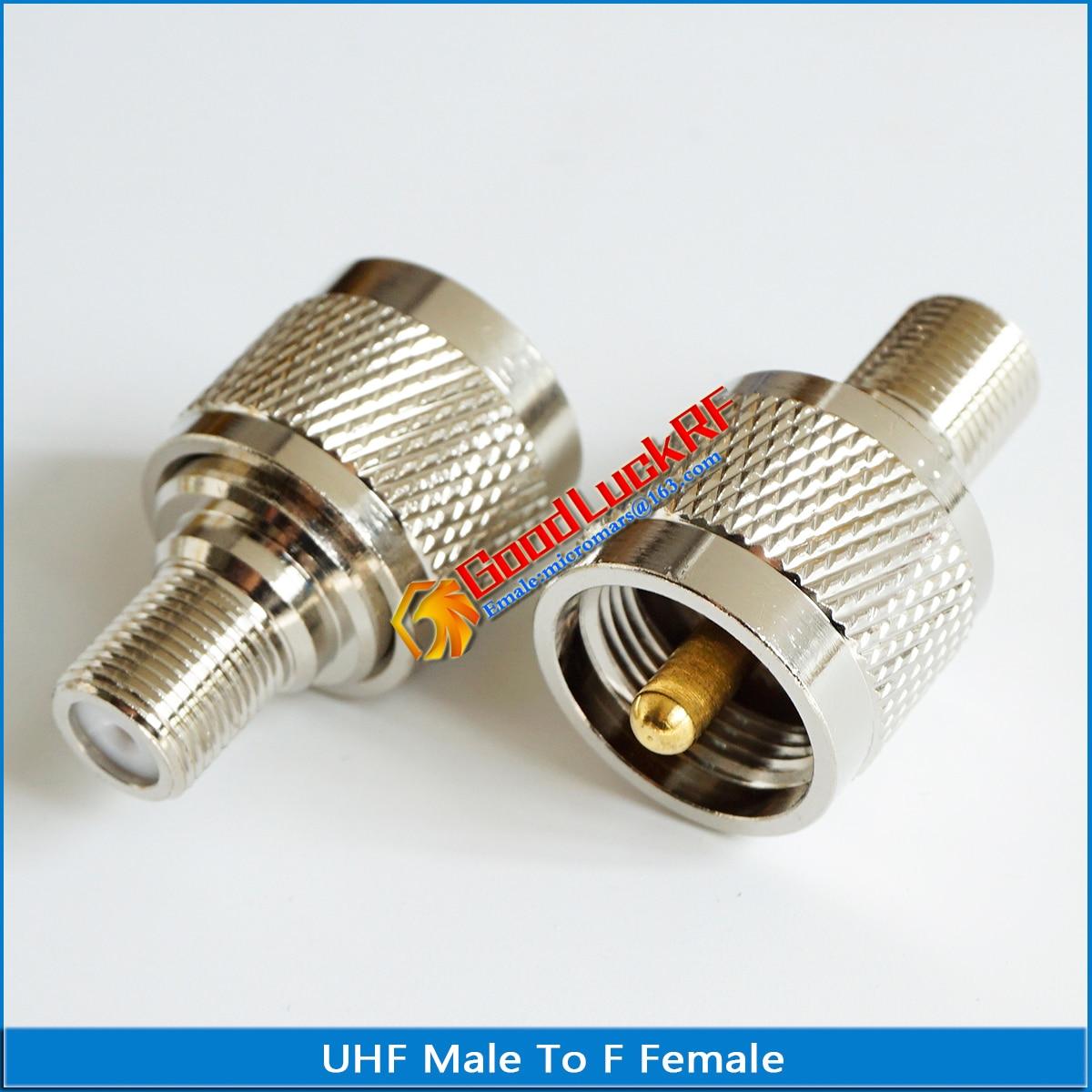 F para uhf pl259 PL-259 so239 so-239 conector soquete uhf macho para f fêmea plug uhf-f tv latão direto rf adaptadores coaxiais