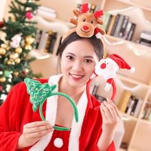 1PC Christmas Headband Santa Xmas Hair Band Clasp Headwear Head Hoop Party Hairband Gift for Kids Decoration