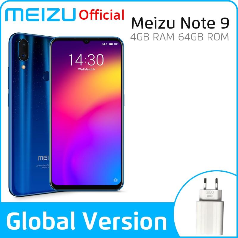 Global Version Meizu Note 9 4GB 64GB 128GB Smartphone Snapdragon 675 Octa Core Note9 48MP Dual Camera AI Front 20MP 4000mAh garnier pure active charbon