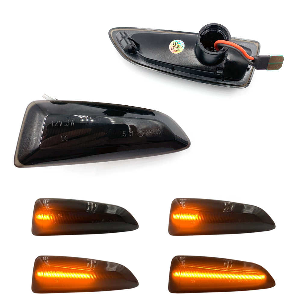 2 pièces clignotant dynamique latéral marqueur lumière séquentielle clignotant pour Opel Astra J Astra J K Zafira C Insignia B Grandland X