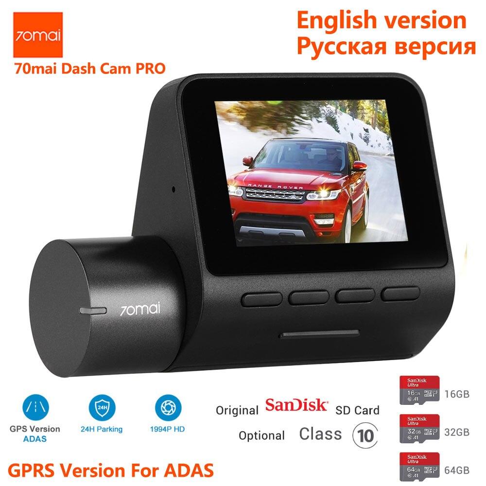 70mai Pro 1944P HD kamera samochodowa 140 stopni FOV Defog ADAS Night Vision 24H monitor do parkowania głos wifi sterowanie kamera na deskę rozdzielczą
