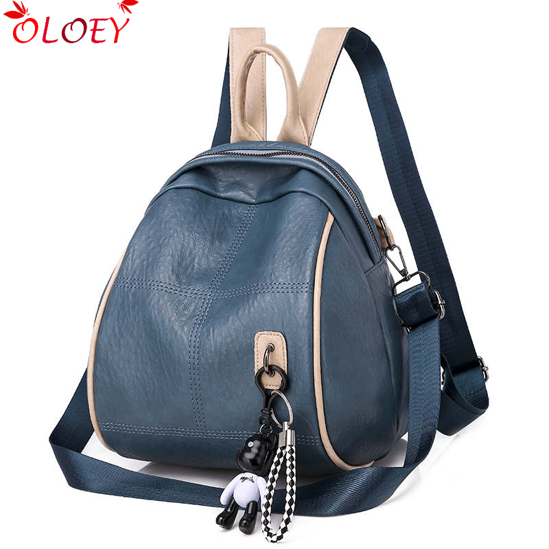 New Fashion Women Backpack 2019 High Quality PU Leather Backpacks For Teenage Girls Female School Multifunction Bag  Mochila
