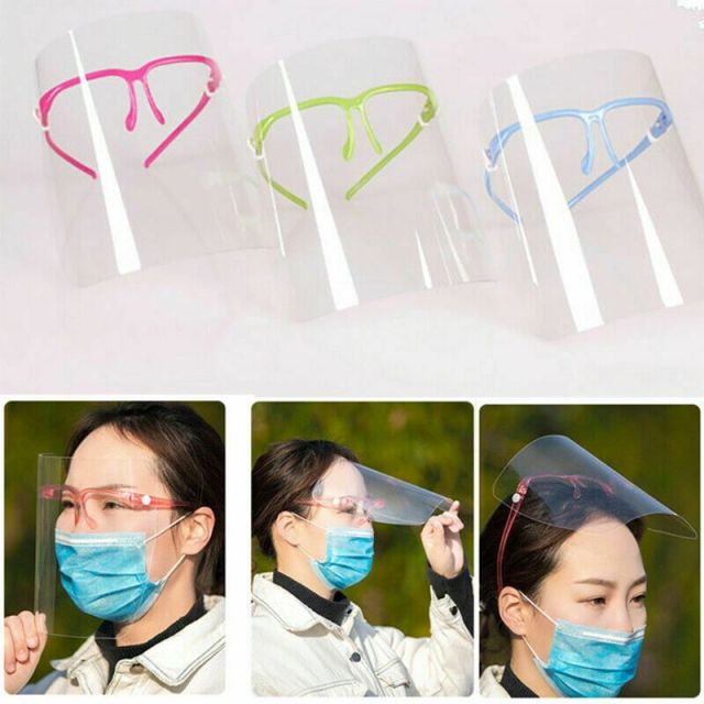Full Face Covering Transparent Anti-saliva Dust-proof Shield Flip Up Visor Oil Fume Protection Masks protective Visor Shield 1