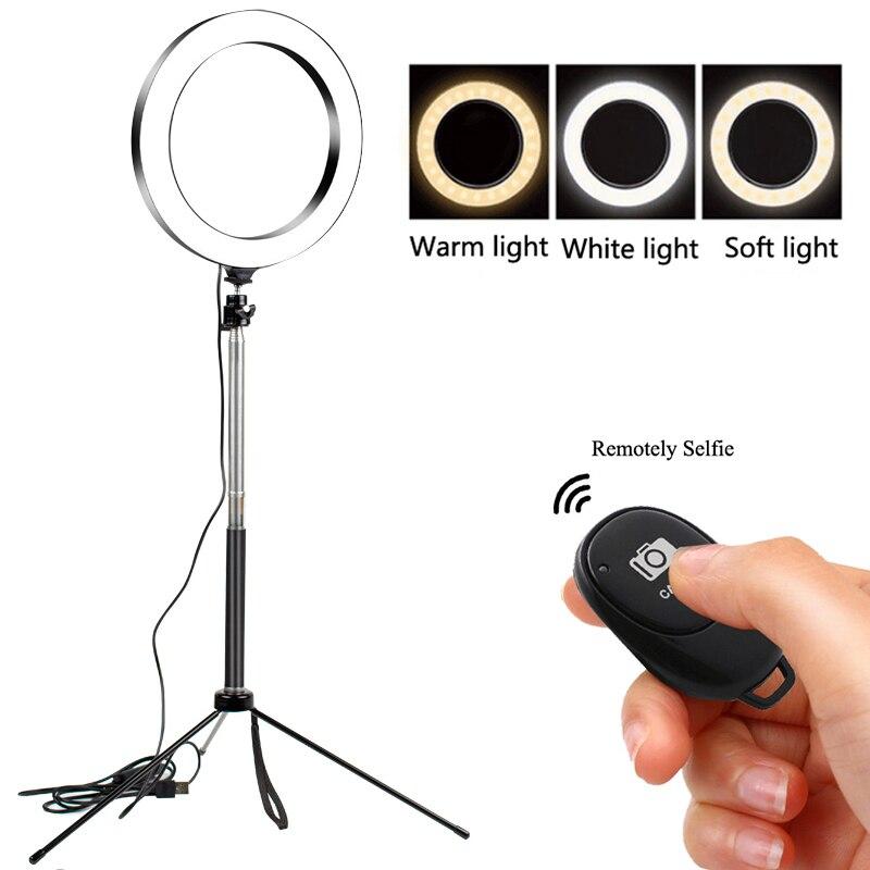 LED Selfie Ring Light Dimmable LED Ring Lamp Photo Video Camera Phone Light Ringlight For Live Fill Light Selfie Ring Light VIP