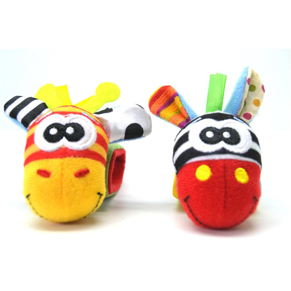 None 1PC/Set Wrist Rattle Educational Toy Baby Cartoon Cute Figure Toy