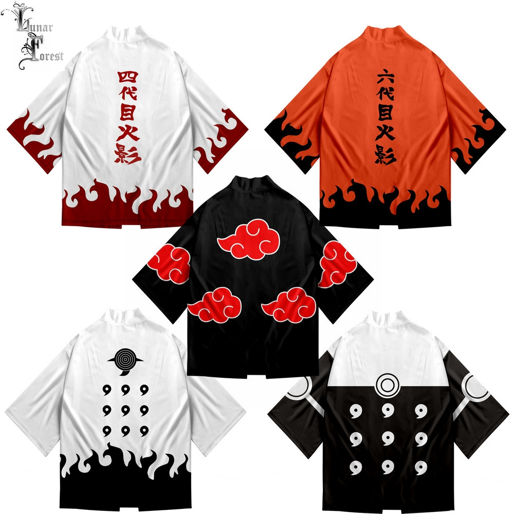 Sasuke/Kakashi 3D Print boy girl Japanese Kimono Haori Yukata Cosplay Women/Men's Summer Casual Cool Short Sleeve Oversized tops