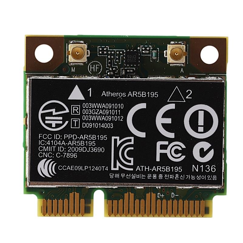 AR9285 AR5B195 150M+BT3.0 Half Mini PCI-E Wireless Card SPS:593127-001 592775-001 For 430 431 435 436 4530S