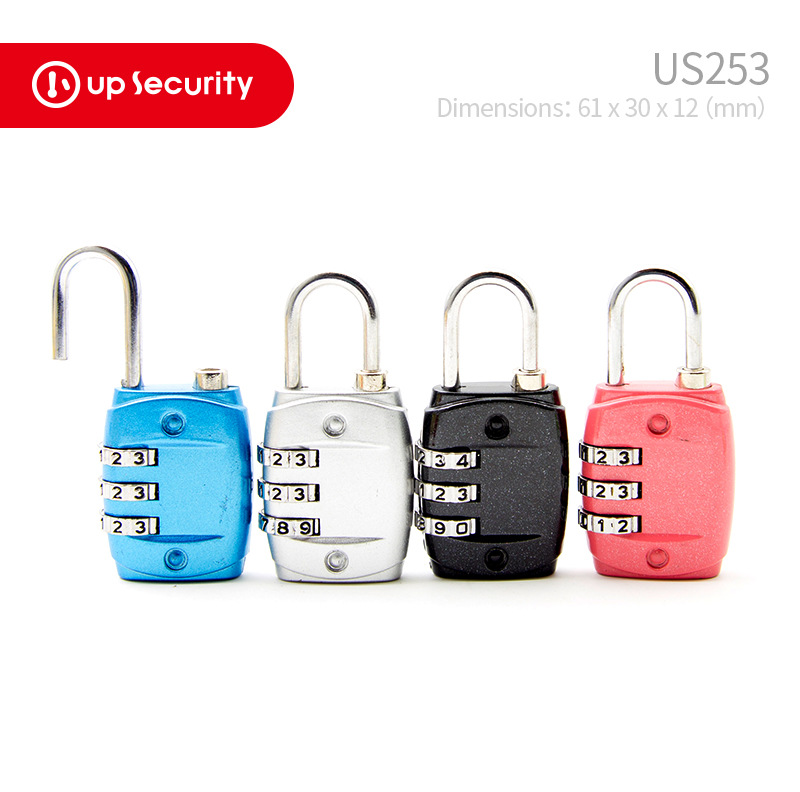 <font><b>TSA</b></font> Zinc Alloy Password Toolbox Gym Password Lock <font><b>Padlock</b></font> with Password Required Cabinet Lock Luggage US253 image