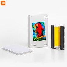 Xiaomi foto impressora conjunto de papel, subolmação de calor, restaura a cor verdadeira, auto, múltipla, sem fio, impressora remota portátil