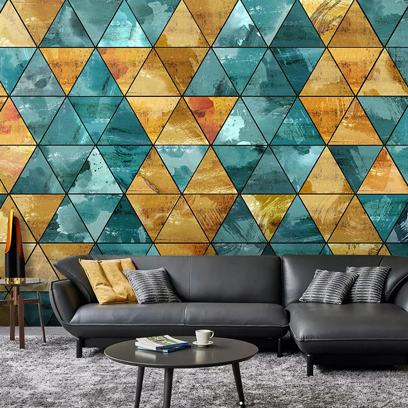 Custom Photo 3D Wall Murals Wallpaper Modern Abstract Creative Triangle Geometric Texture Living Room Bedroom Art Decor Mural