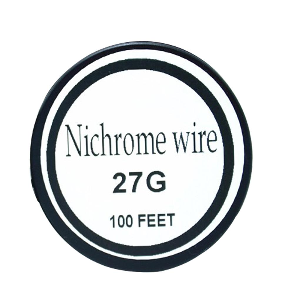 Cable Nichrome 27 calibre 100 FT 0,35mm resistencia Cantal AWG
