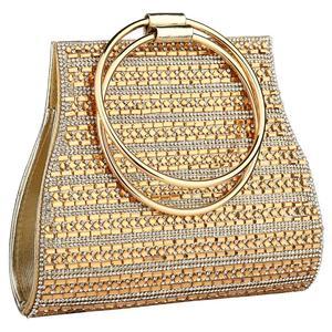 Image 1 - Yyw sacos para as mulheres 2019 moda europeia alça redonda bolsa mini noite saco de embreagem cor ouro casamento tote bolsas garras