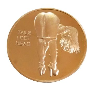 Hot Sale Sexy Woman Coin Get Tails Head! Adult Challenge Lucky Girl Commemorative Coins Collection Gold Challenge Coin gold silver color panda commemorative coin metal crafts gifts home decoration accessories challenge coin art collection