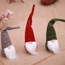 Get more info on the PQuality Cute Beard Christmas Elf Decoration New Year Festival Dinner Party Christmas Decorations for Home CM