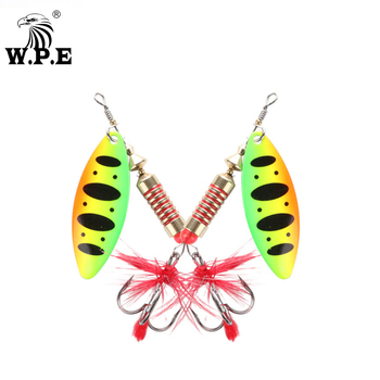 2pcs lot spinner spoon fishing lure 6cm 10g metal hard baits sequins noise artificial bait with treble hook fishing tackle pesca W.P.E New Spinner Lure 3pcs/lot 18 color 6.5g/10g/13.5g Hard Lure Spoon Fishing Lure with Treble Hook Metal Fishing Tackle Pesca
