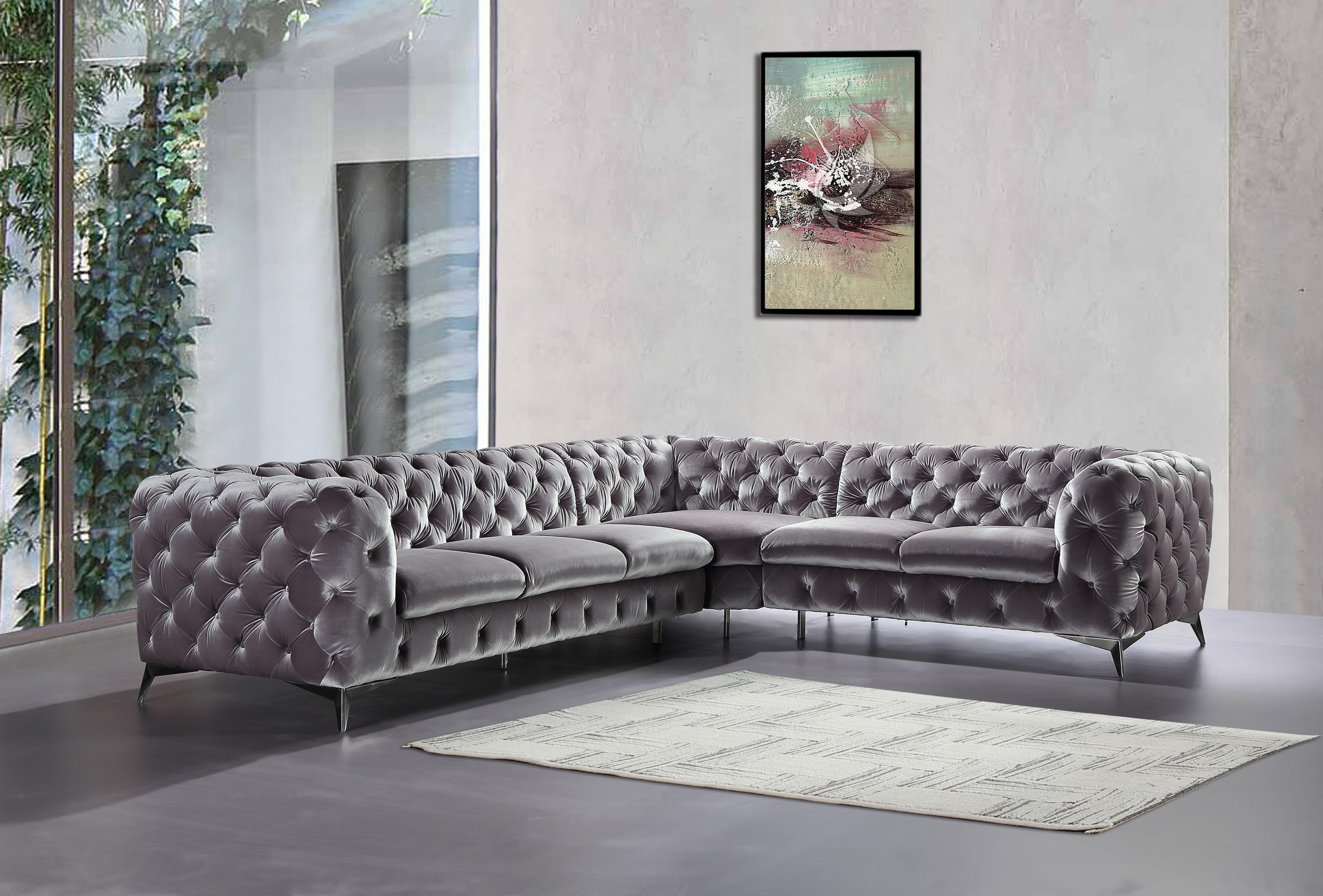 Modern Living Room Sofa Set Fabric, Living Room L Shaped Sofa