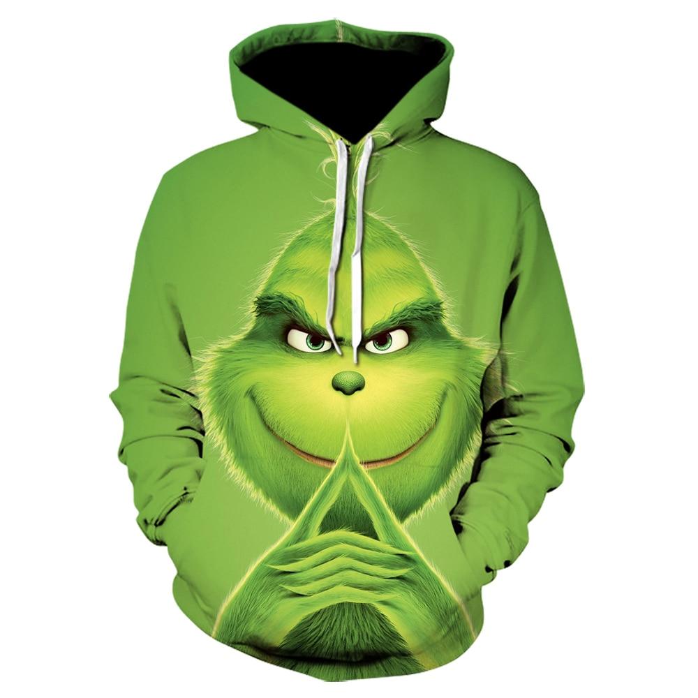 Movie The Grinch 3D Printed Sweatshirts Men Hoodies Unisex Tracksuits Fashion Pullovers Streetwear Hoodie Homme Women Tops