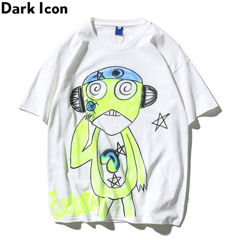 Dark Icon Japanese <font><b>Frog</b></font> Men's <font><b>Tshirt</b></font> 2020 Summer Round Neck Hip Hop T-shirt Cotton Tee Shirts Streetwear Clothing image