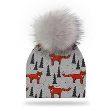 kids Hat Winter Baby Boy Cap Pompom Hat