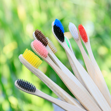 best-selling Natural Bamboo Handle Toothbrush Rainbow Colorful Whitening Soft Bristles Eco-friendly Oral Care