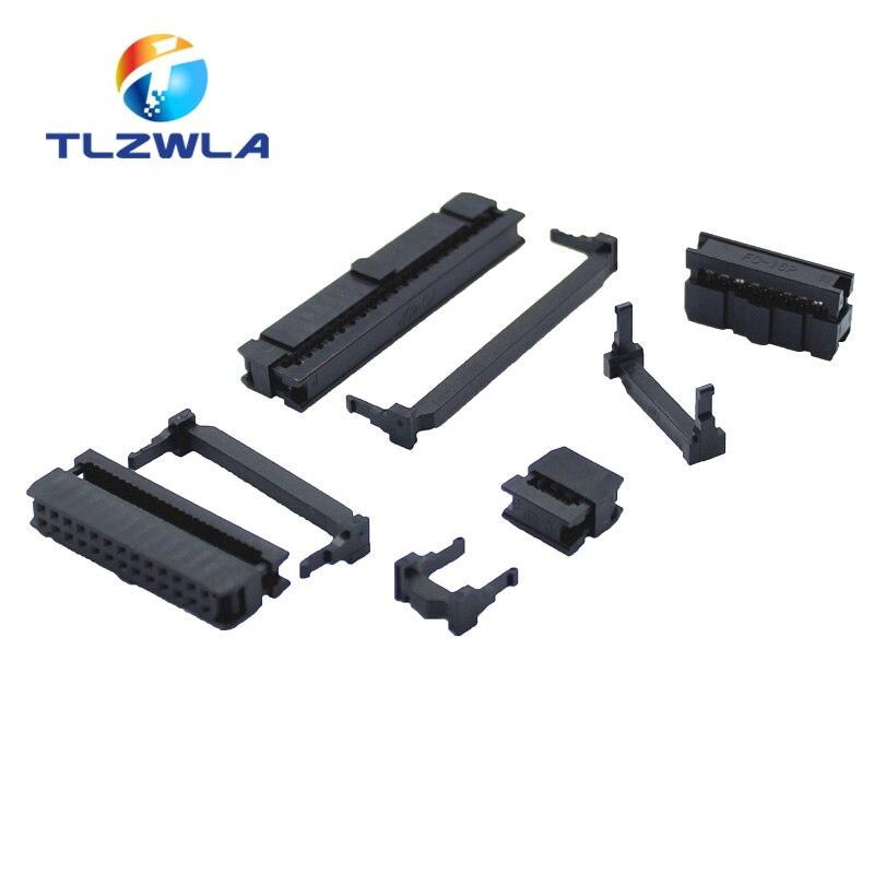 De 2,54mm de inclinación de 6 posiciones 8 10 12 14 16 18 20 26 30 34 40 pines hembra, conector IDC, Cable de cinta, conector