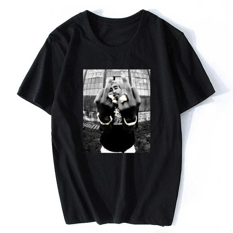 1PC Tupac Shakur Casual Straße Tragen Mens Fashion Hiphop Rap Star Cool T-shirt Kurzarm Baumwolle T Top Vintage T Shirt