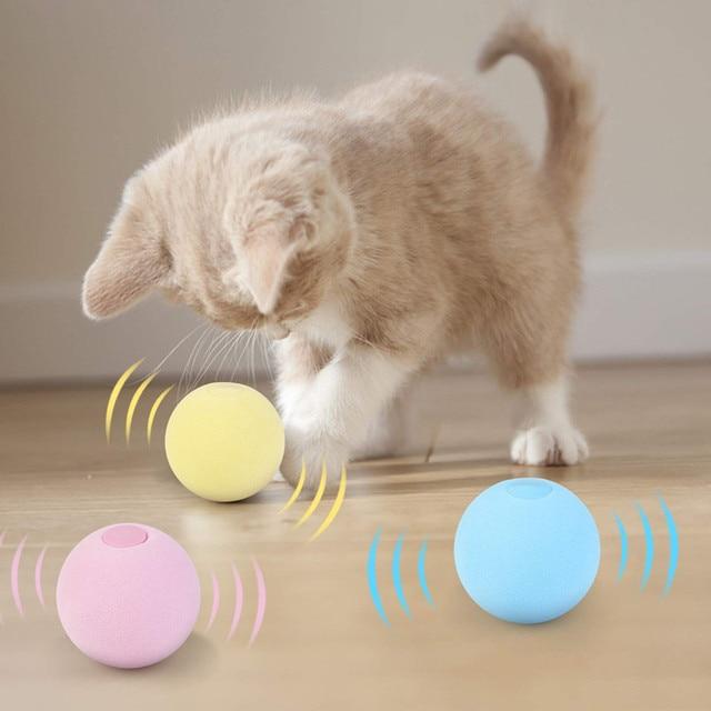 Balle intelligente d'apprentissage pour chat, jouet interactif, herbe-aux-chats, chaton 1