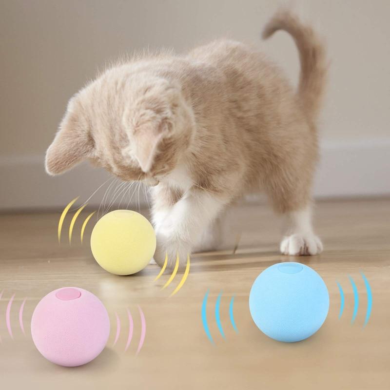 Gato inteligente brinquedos interativos bola catnip gato treinamento brinquedo do animal de estimação jogando bola pet squeaky suprimentos produtos brinquedo para gatos gatinho