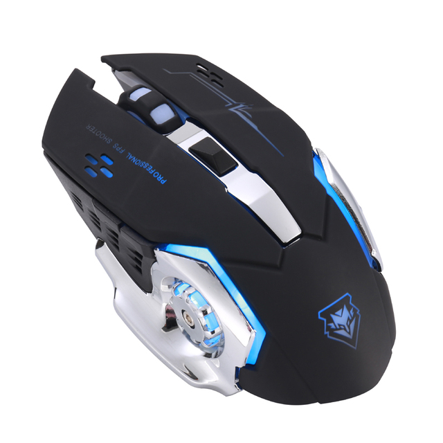 Wireless mouse Rechargeable Gaming Mouse Mute Luminous  2.4Ghz Opto-electronic Computer Mouse Accessories Desktop laptop mouse
