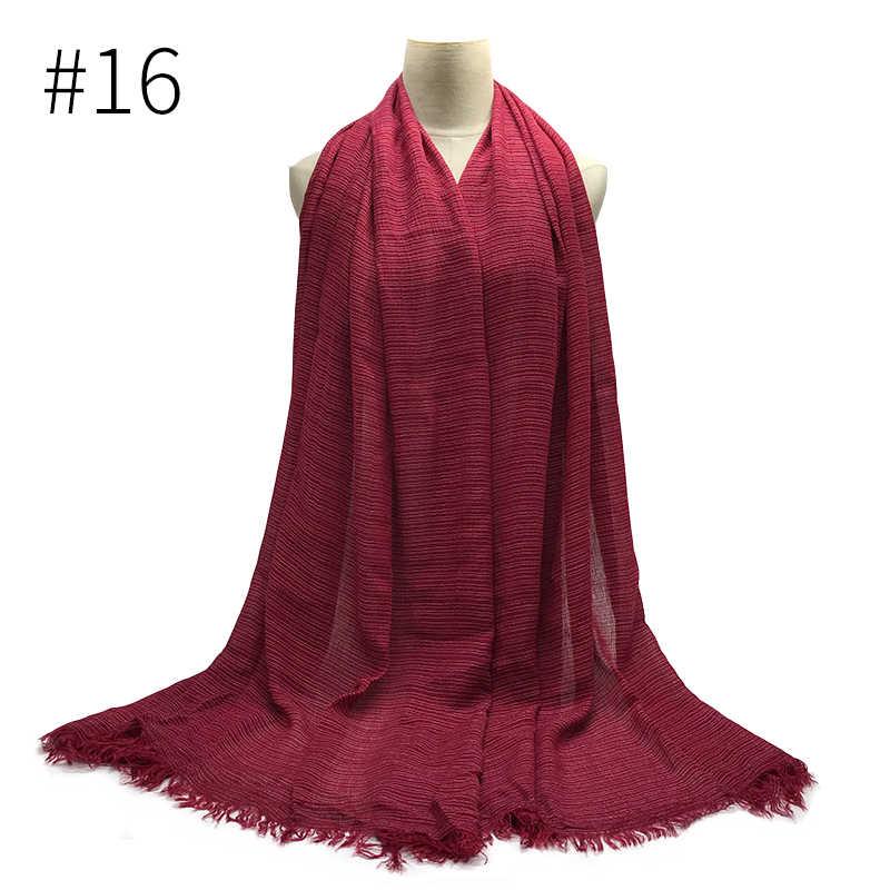 NUOVO inverno sciarpa A Righe più richiesti: big pashmina delle donne Dell'annata morbido sciarpe e scialli linea di Lusso hijab musulmano