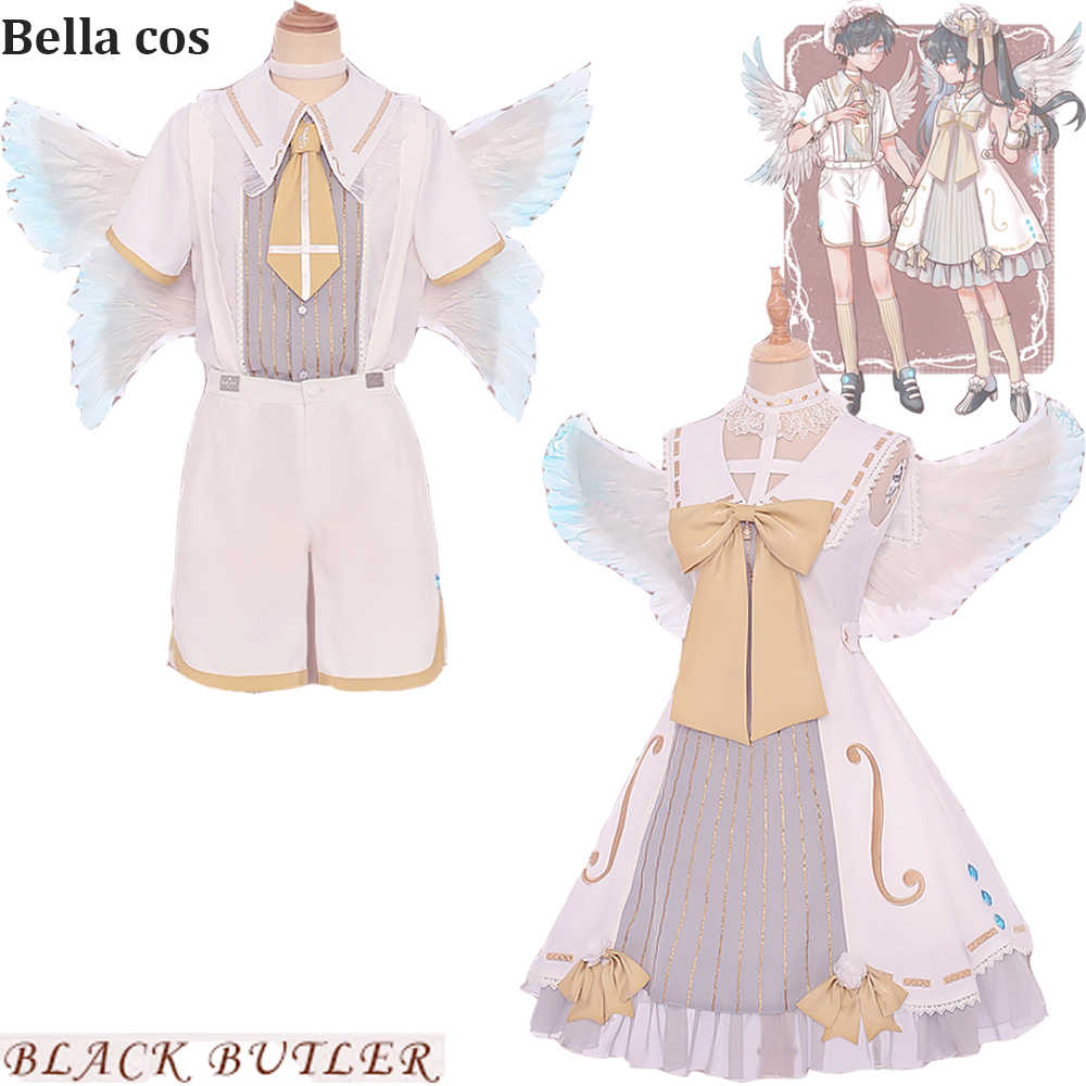 New Black Butler Ciel Phantomhive cosplay costume lolita sing poem dress uniform halloween costumes for man women Anime clothes