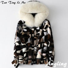 2020 Women Short Autumn and Winter Mink Fur Coat H6