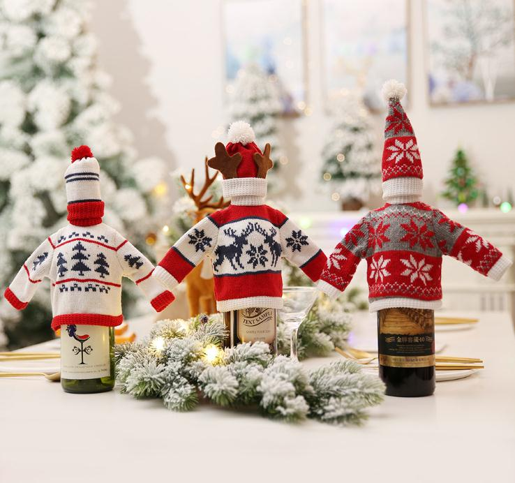sweater with hat for wine bottle cover wine bottle bag  wine bottle sweater  dresses for wine bottle