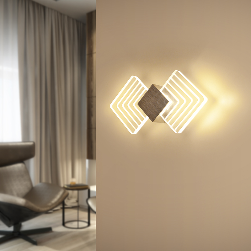 Post-modern Geometric Shape LED Wall Lamp Bedside Bathroom Vanity Front Mirror Light Aisle Corridor Lighting Wall Mounted Sconce