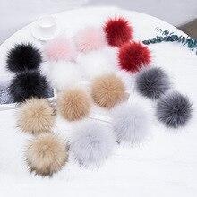 16 pcs/ lot Diy Pompom Ball Faux fur Pom pon for Bag Pendent Shoes Handbag Key Chains pom Xmas Women Accessories