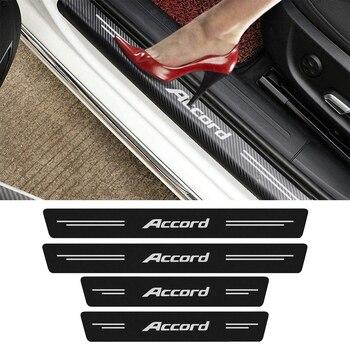 4 шт. автомобиль Накладка порога двери подоконник наклейки для Honda Accord, 7, 8, 9, 10, 2020 2019 2018 2017 - 2003 логотип для автомобильного стайлинга чехлы