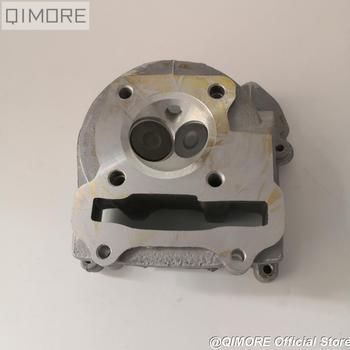 Zespół głowicy cylindrów o wydajności 50mm 52mm (większe zawory) do skutera 139QMB 147QMD GY6 50 60 80cc upgrade do GY6 100cc tanie i dobre opinie QIMORE 5 96cm Aluminum Alloy Silniki 1 cylinder GY6-100 China Brand New
