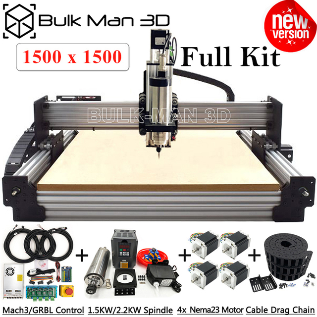 Newest 1515 WorkBee CNC Router Machine Full Kit with Tingle Tension System 4Axis CNC Engraver Complete Kit Wood Metal CNC Mill