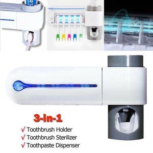 Антибактериальный УФ-держатель для зубной щетки автоматический диспенсер для зубной пасты стерилизовать домашний очиститель стерилизова...