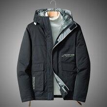 Coat Jackets White-Duck-Down-Jacket Mens Brand-New Thick Windbreaker Streetwear Warm