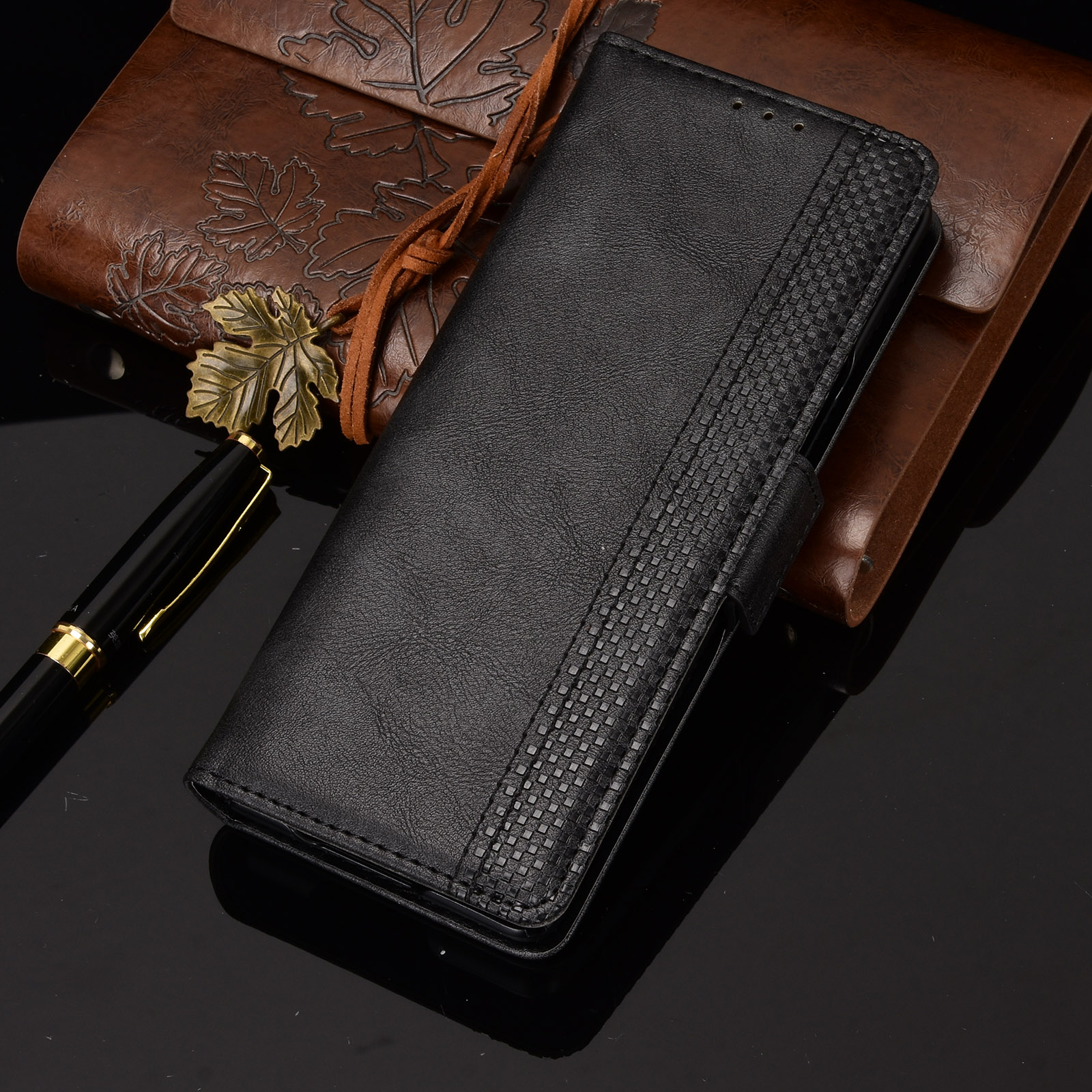 Custodia per Galaxy Z Fold 2 custodia in pelle PU Premium Flip Cover per Samsung Galaxy Z Fold 2 5G