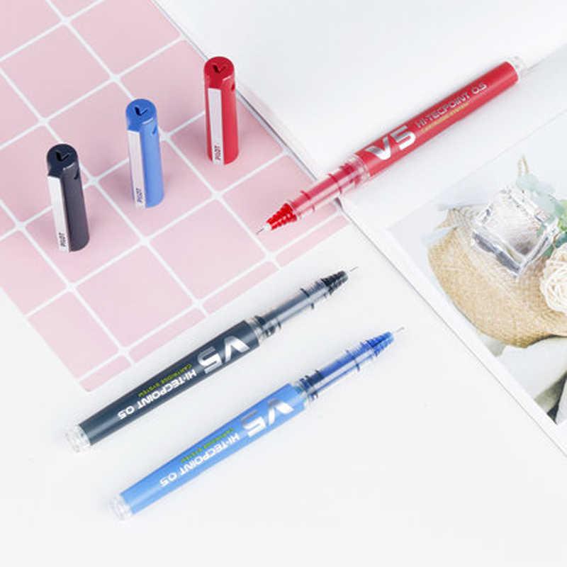Pilot-V7-Hi-Tecpoint-Cartridge-System-Rollerball-Pen-Medium-Point 0.7mm 6 sztuk/partia punkt igły czarny/czerwony/niebieski/zielony/fioletowy