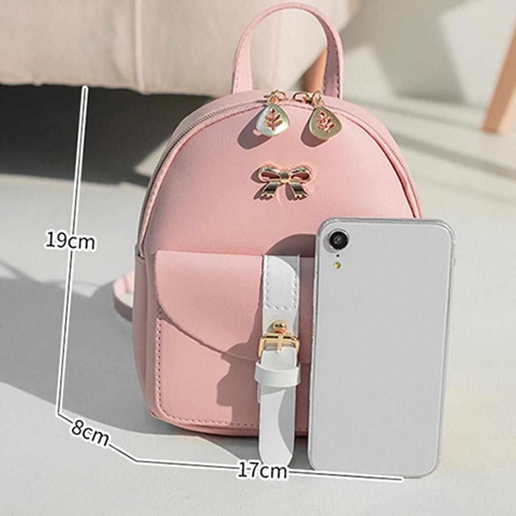 Bolso de hombro para mujer, Mochila pequeña, bolso para teléfono móvil, mochila para estudiantes