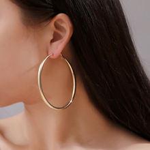 Модные большие золотые серьги кольца ювелирные изделия для женщин